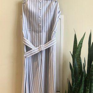 Club Monaco Striped Jumpsuit
